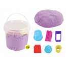 Magic Sand in the bucket with purple 6 Burg forms