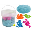 Magic Sand blue in bucket with 4 seafood shape