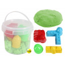Magic Sand green in bucket with 4 Burg forms