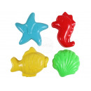 Sand molds 4-piece Marine animals