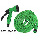 wholesale Garden & DIY store: Magical garden  hose green about 5,00m - 15,00m