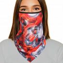 Munskydd röd silverskalle med munskydd
