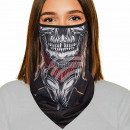 Mouthguard multituch black skull warrior