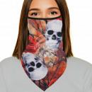 Mouthguard multituch red orange skulls