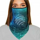 Großhandel Drogerie & Kosmetik: Mundschutztuch Multituch blau grün Weltall Galaxie