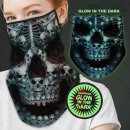 Face mask multituch glow effect skull