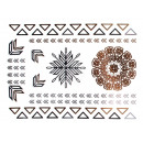 wholesale Jewelry & Watches: Metal Tattoo Flash  Tattoos gold metallic silver