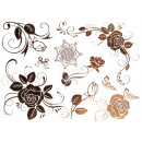 Großhandel Piercing / Tattoo: Metal Tattoo gold  metallic Flash Tattoos silber