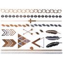 grossiste Bijoux & Montres: Tatouage de métal  flash Tatouages or métallique