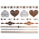 Großhandel Piercing / Tattoo: Metal Tattoo gold  metallic Flash Tattoos silber
