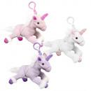 Plüsch Einhorn Unicorn violett, rosa, weiss