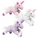 wholesale Dolls &Plush: Plush Unicorn Unicorn purple, pink, white