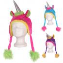 Carnaval Eenhoorn muts blauw, roze, paars