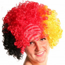Afro wig black red yellow
