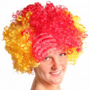 Afro wig spain flag red yellow