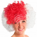 Afro wig red white