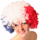 Afro wig red white blue