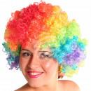 Afro - Peruecke in Regenbogenfarben