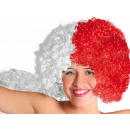 Afro Wig white red Poland Austria Switzerland