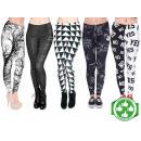 ingrosso Pantaloni: Starter Package  Leggings mescolare in bianco e ner