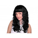 Long-haired wig black, curly or wavy