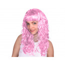 Long hair wig pink, curly or wavy