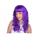 Long hair wig purple, curly or wavy