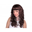 Long-haired wig brown, curly or wavy
