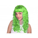 Long-haired wig green, curly or wavy