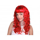 Long-haired wig red, curly or wavy