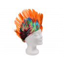 Short hair wigs with mohawk haircut orange