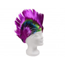 Short hair wigs with mohawk haircut purple