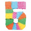 Befüllbare Pinãta Zahl 5 multicolor