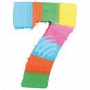 Befüllbare Pinãta Zahl 7 multicolor