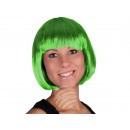 Short hair wig with bob haircut green