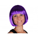 Short hair wig with bob haircut purple