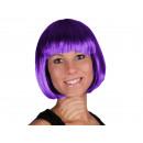 Kurzhaar Perücke mit Bob Haarschnitt lila