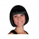 Kurzhaar Perücke mit Bob Haarschnitt schwarz