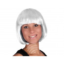 Short hair wig with bob haircut white