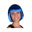 Short hair wig with bob haircut dark blue