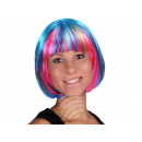 Short hair wig with bob haircut multicolor