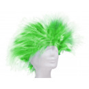 Short hair wig in Punkstyle green-white