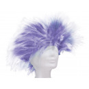 Short hair wig in Punkstyle purple-white