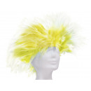 Short hair wig punk style yellow-white