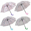 Children umbrella white semitransparent donuts