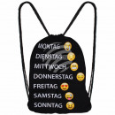 Gym Bag, Gymsac Design: Emoticons, Weekdays d