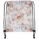 Backpack Gym Bags Vintage Flowers