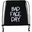 wholesale Gifts & Stationery: Backpack Turnbeutel Bad Face Day black