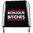 groothandel Stationery & Gifts: Rugzak tas Bon Jour zwart