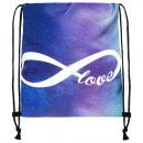 Backpack Turnbeutel Endless Love Galaxy